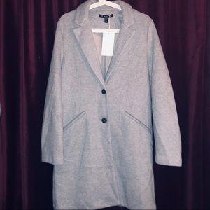 Zara Light Gray Wool Long Coat